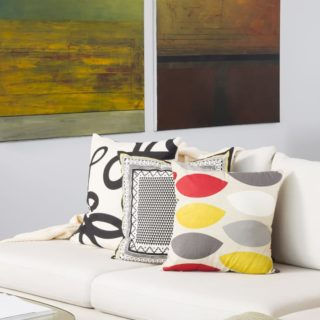 Contemporary Apartment Staging - colourful details
