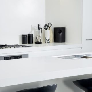 Contemporary Apartment Staging - kitchen accessories