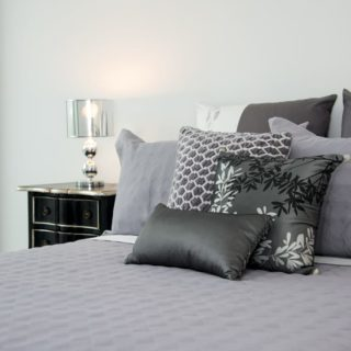 Contemporary Apartment Staging - master bed