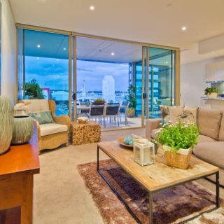 Living Room Seaside Apartment - Staging